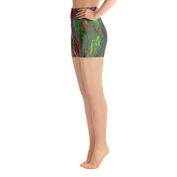 Rainbow Eucalyptus Yoga Shorts