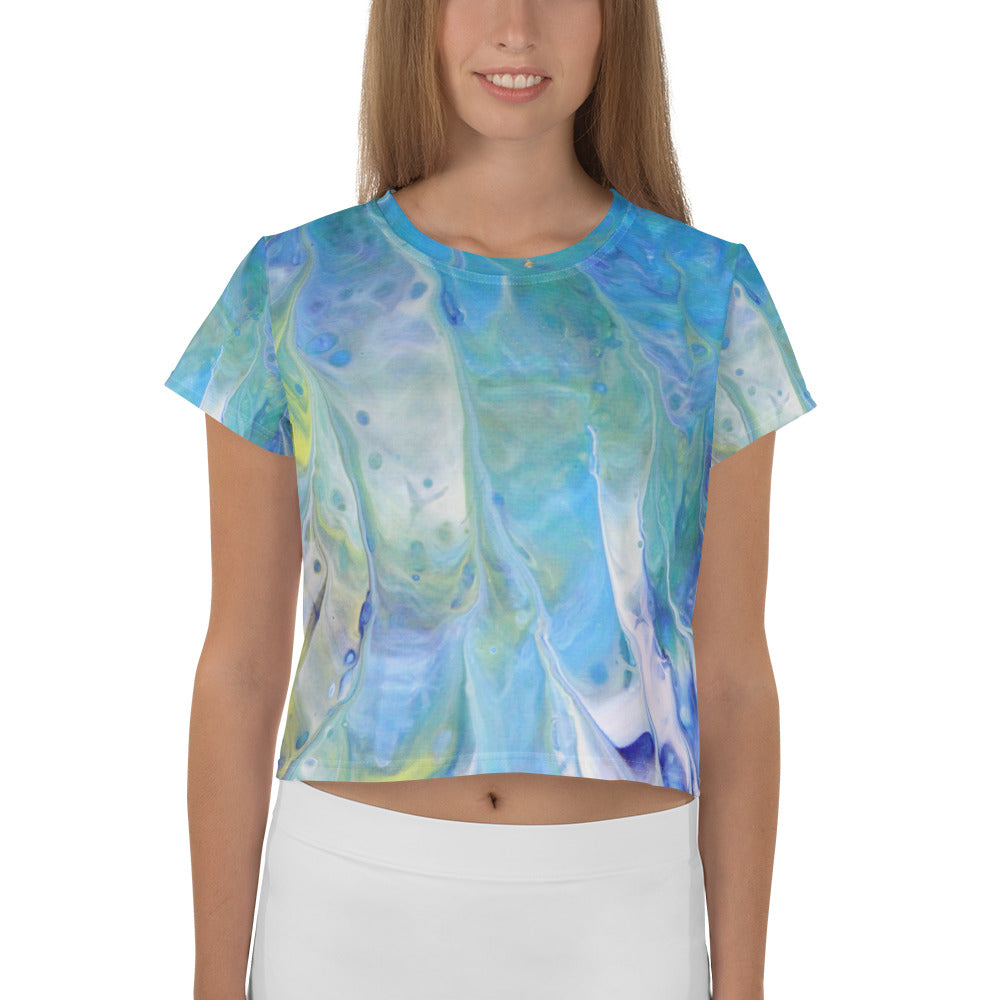 Blue Heaven Crop Tee