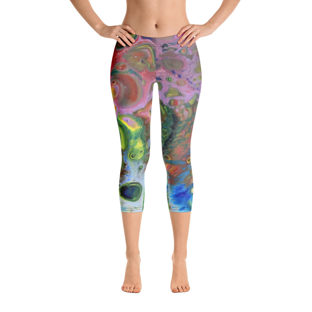 Multi-color Capri Leggings
