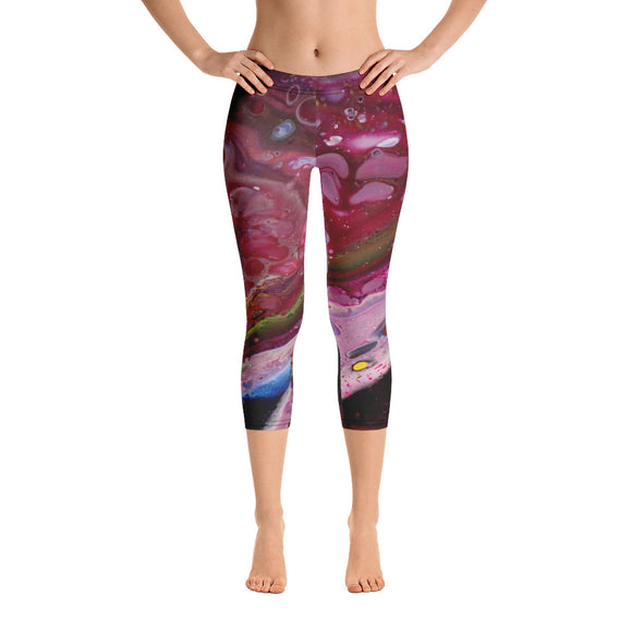 Cranberry Dream Capri Leggings
