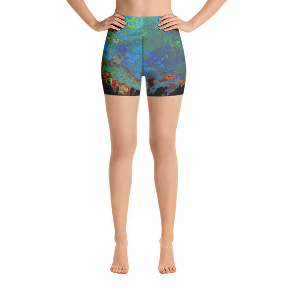 Flaming Desire Yoga Shorts