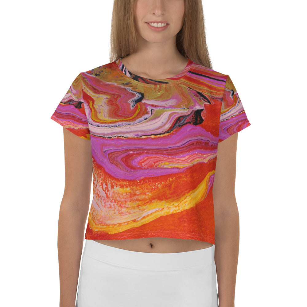 Lava Flow Crop Tee