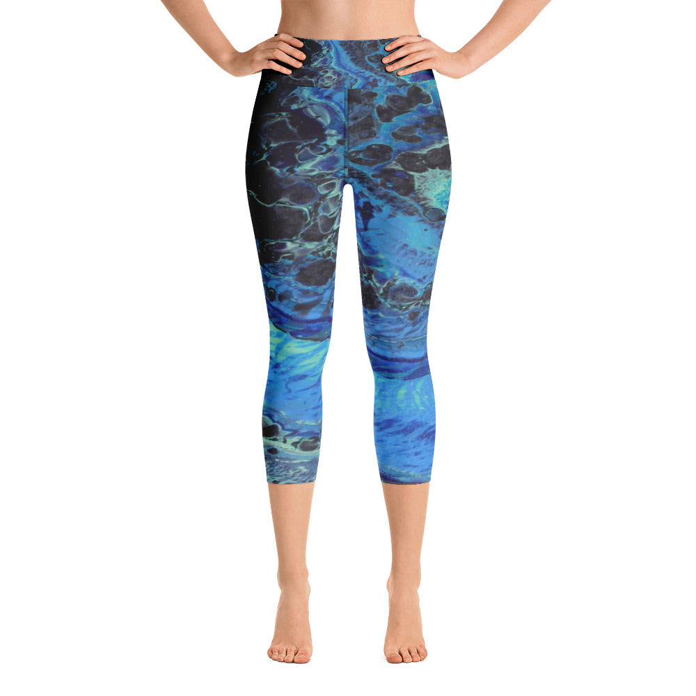 Blue Tracks Yoga Capri Leggings