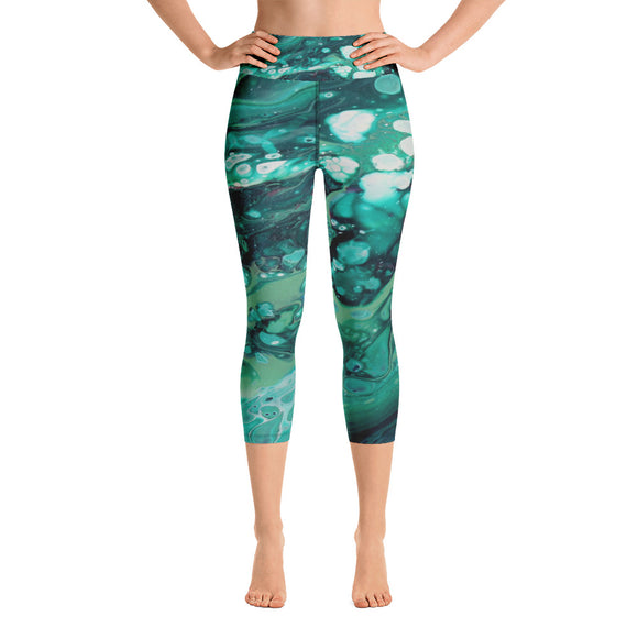 Envious Green Yoga Capri Leggings