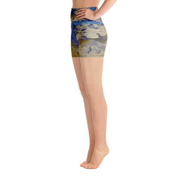 Sandy Beaches Yoga Shorts