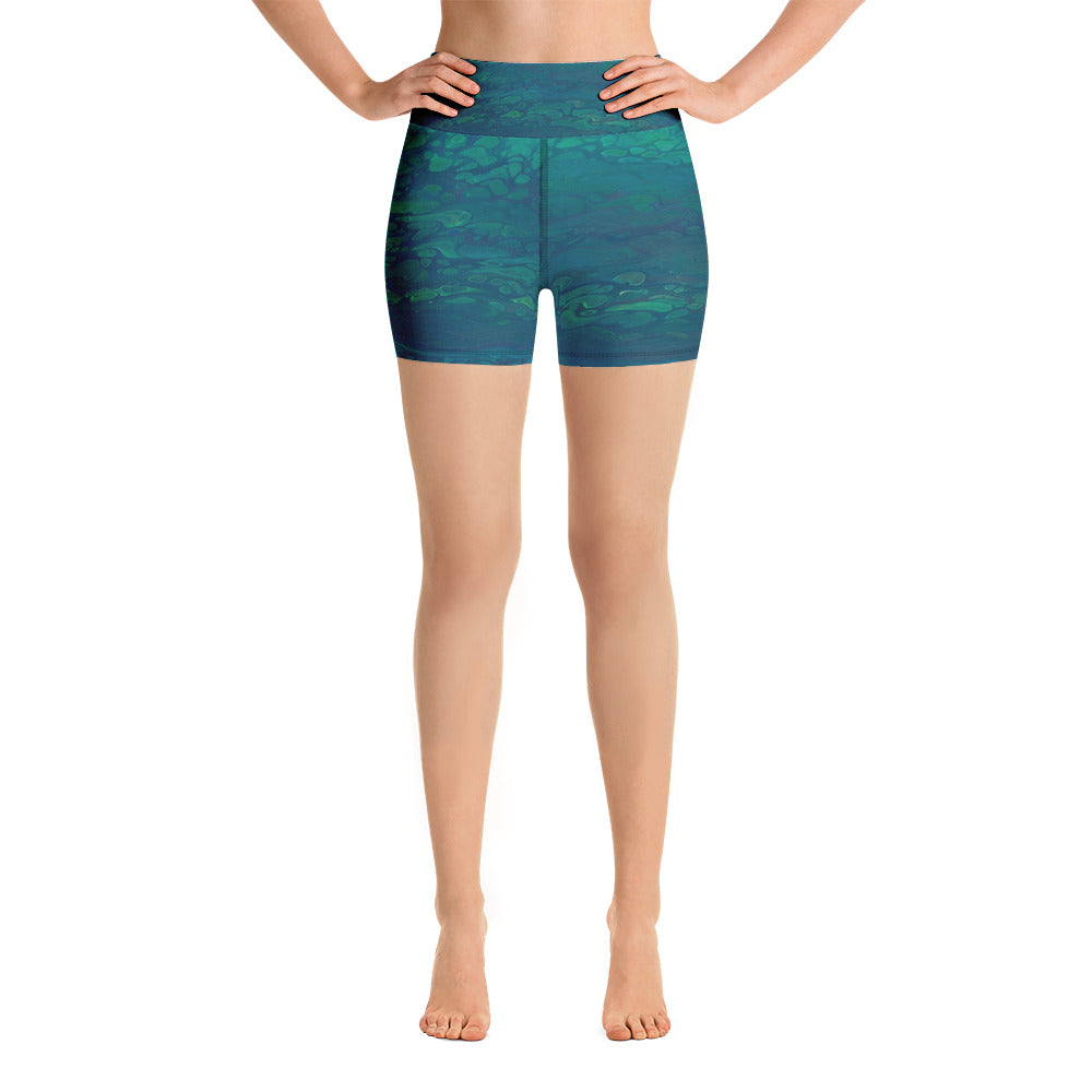 Deep Sea Yoga Shorts