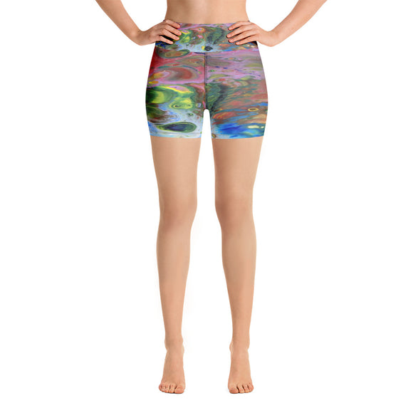 Multi-color Yoga Shorts