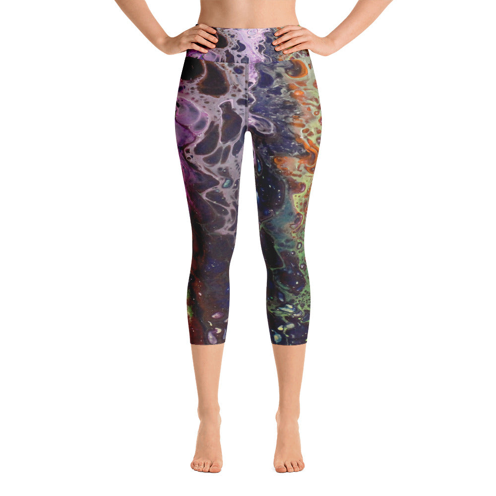 Purple Lust Yoga Capri Leggings