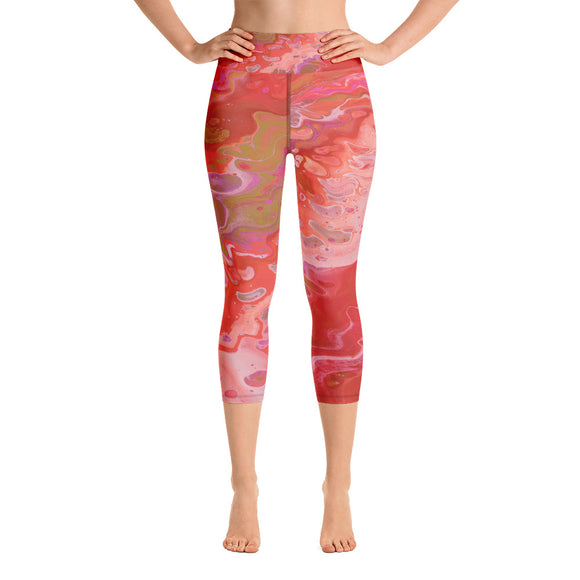 Dreamsicle Yoga Capri Leggings