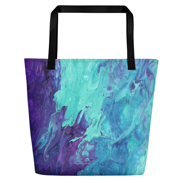 Lavender Twist  Beach Bag