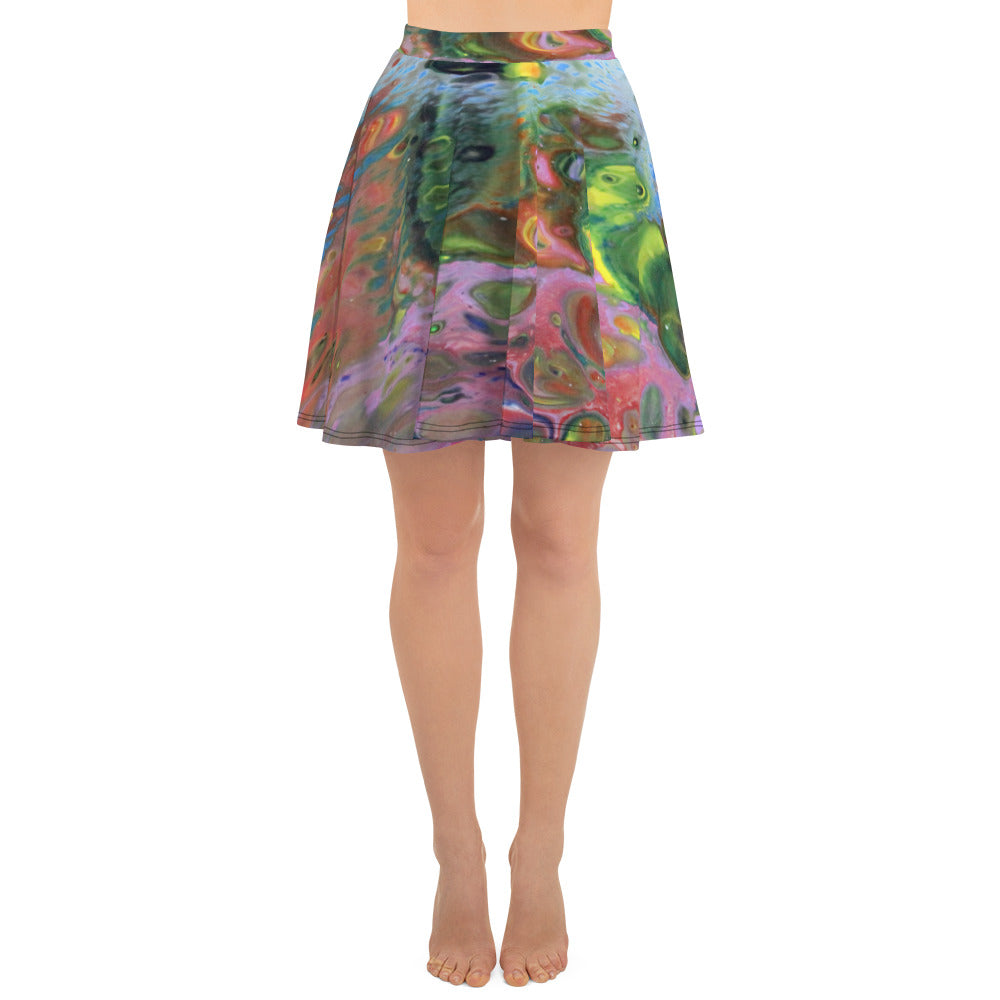 Multi Color Skater Skirt