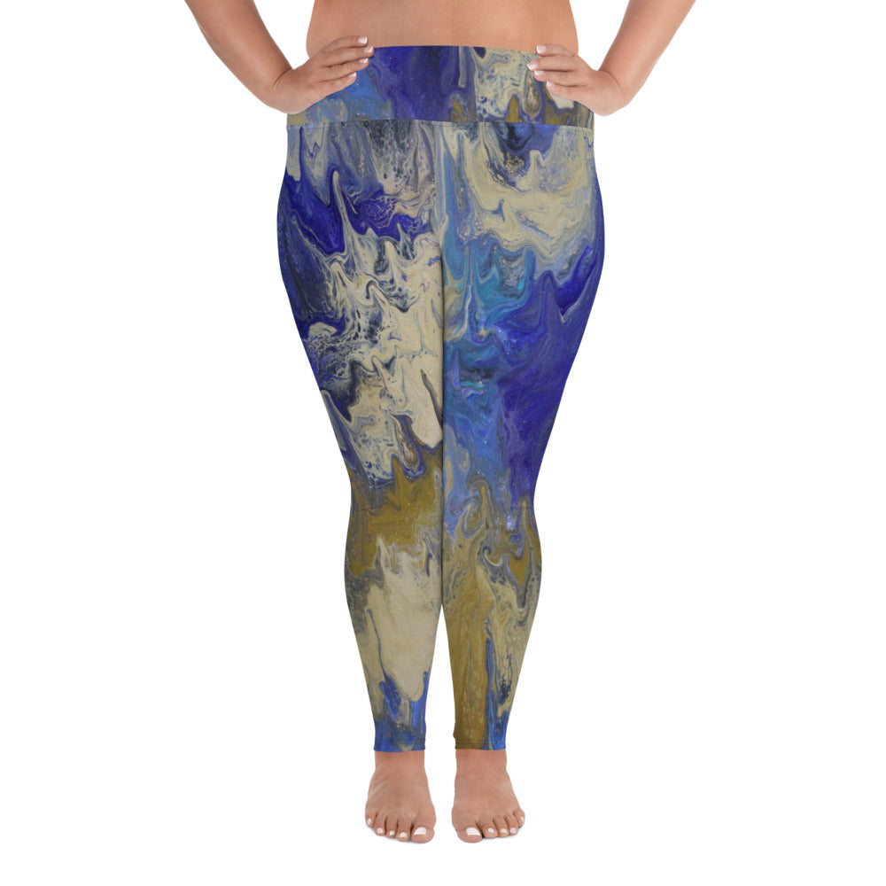 Sandy Beaches Plus Size Leggings