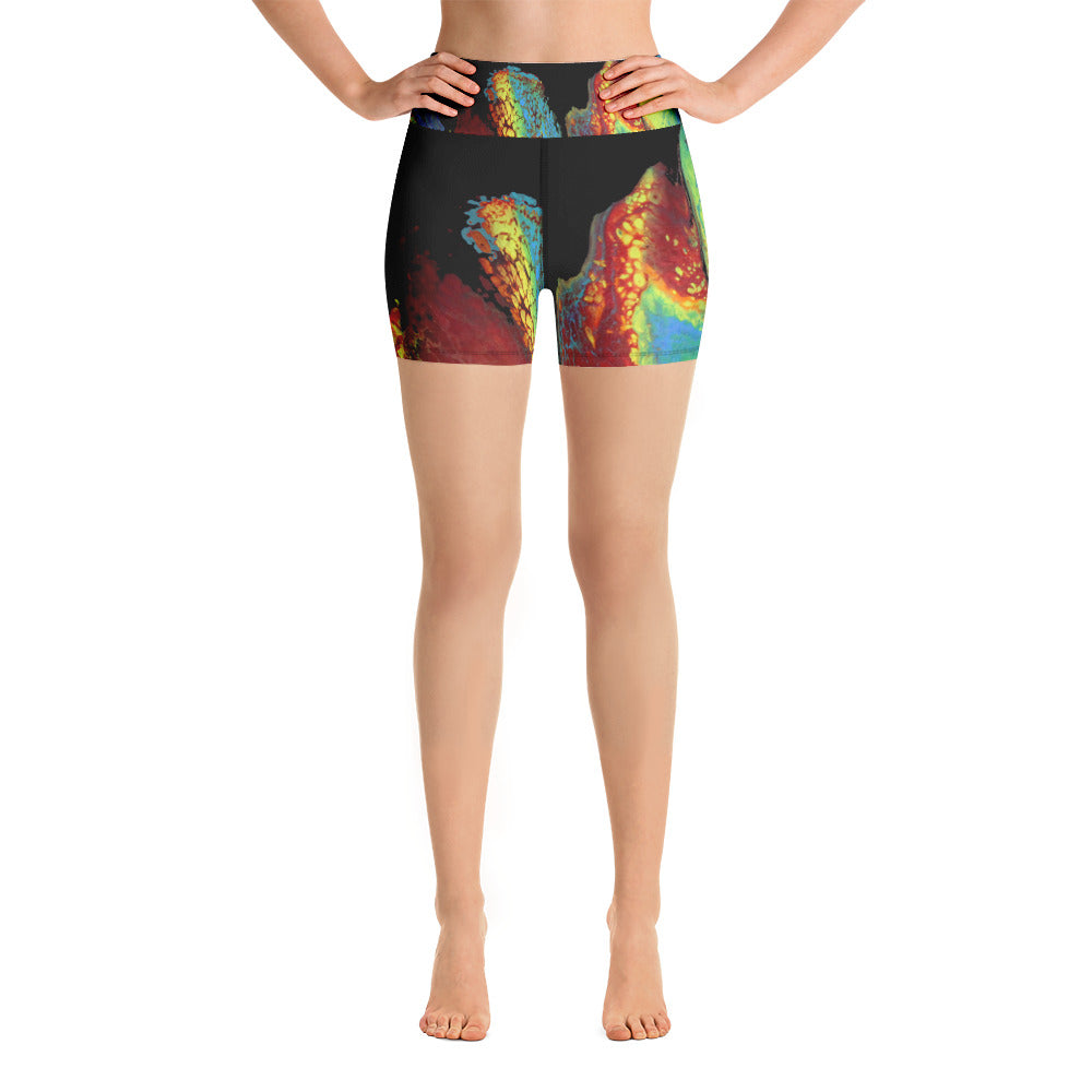 Rainbow Swipe Yoga Shorts
