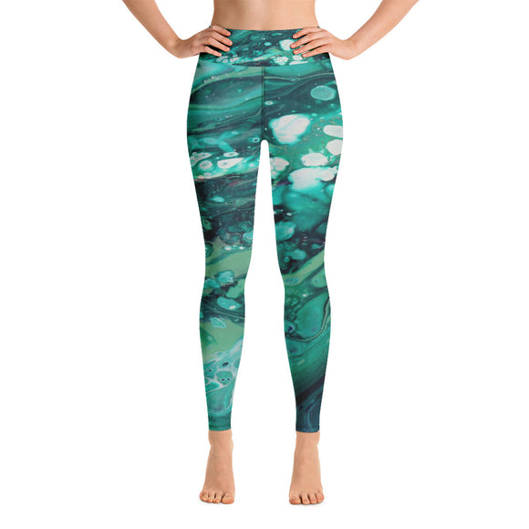 Envious Green Yoga Leggings