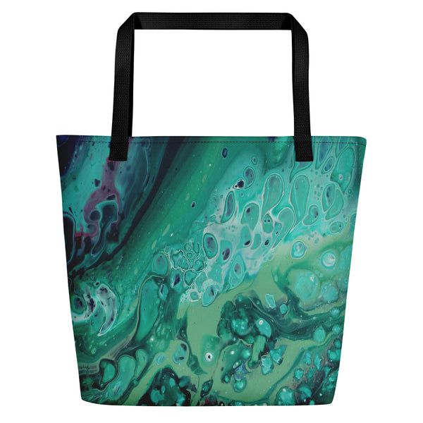 Envious Green Beach Bag