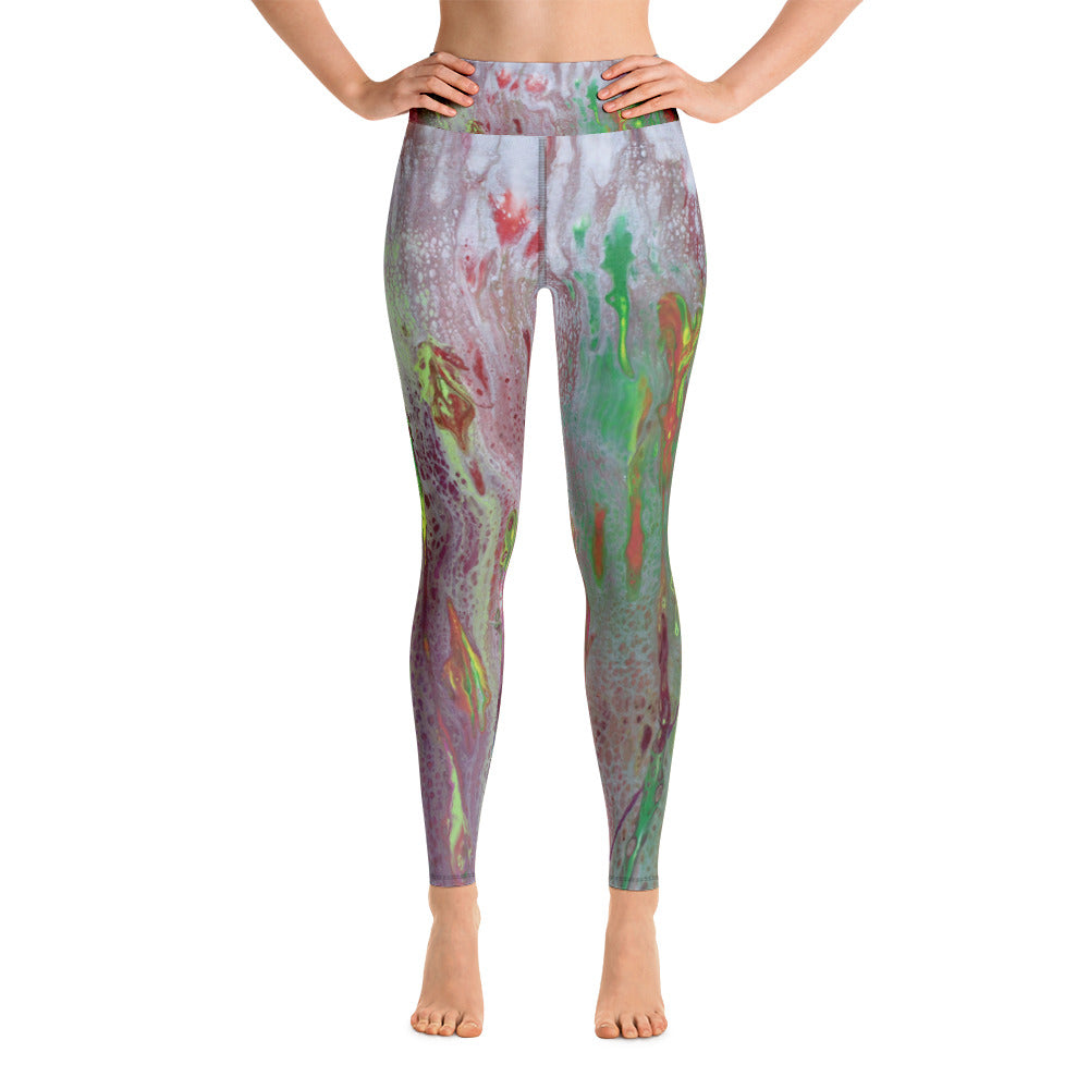 Rainbow Eucalyptus Yoga Leggings
