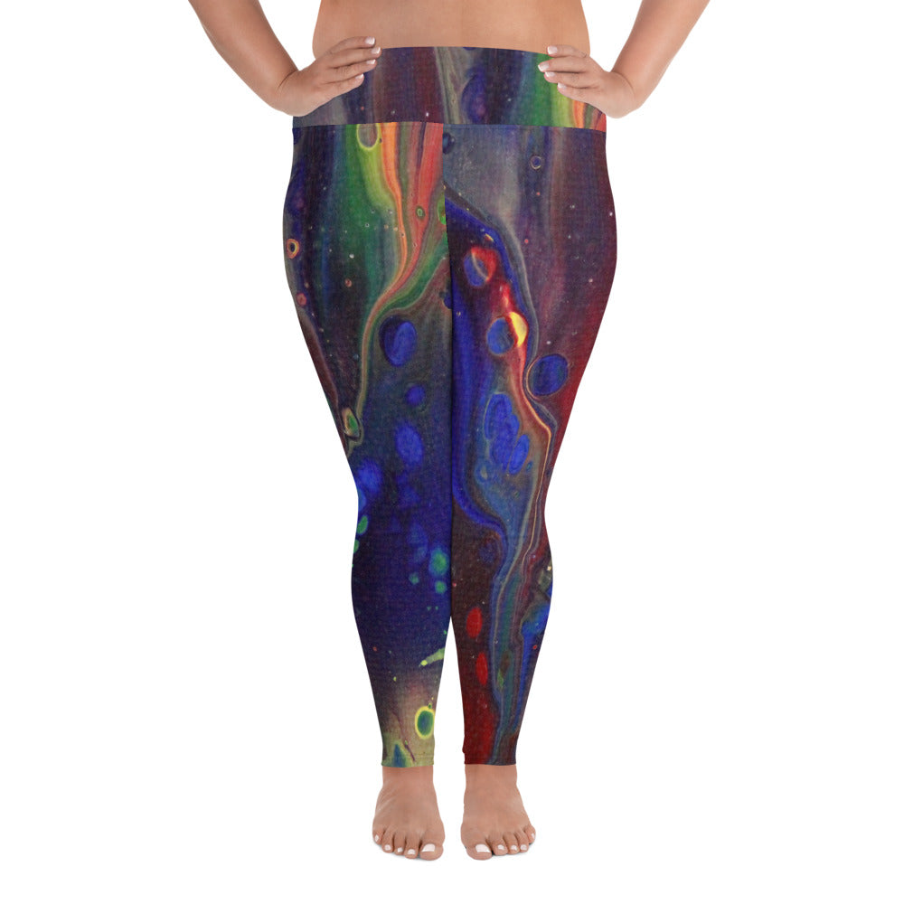 Rainbow Love Plus Size Leggings