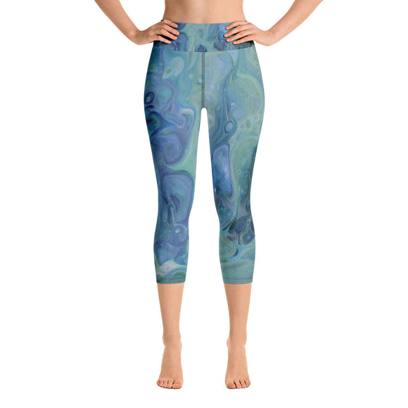 Sea Foam Yoga Capri Leggings
