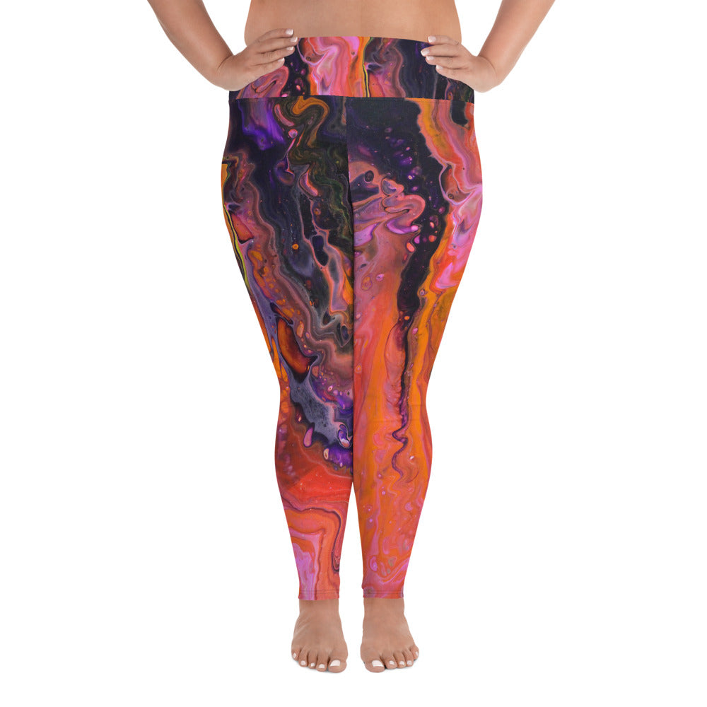Galactic Portal Plus Size Leggings