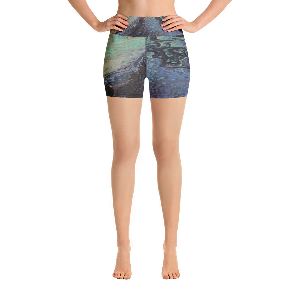 Galaxtic Yoga Shorts