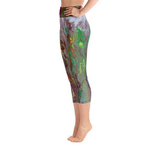 Rainbow Eucalyptus Yoga Capri Leggings
