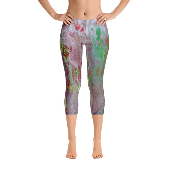 Rainbow Eucalyptus Capri Leggings