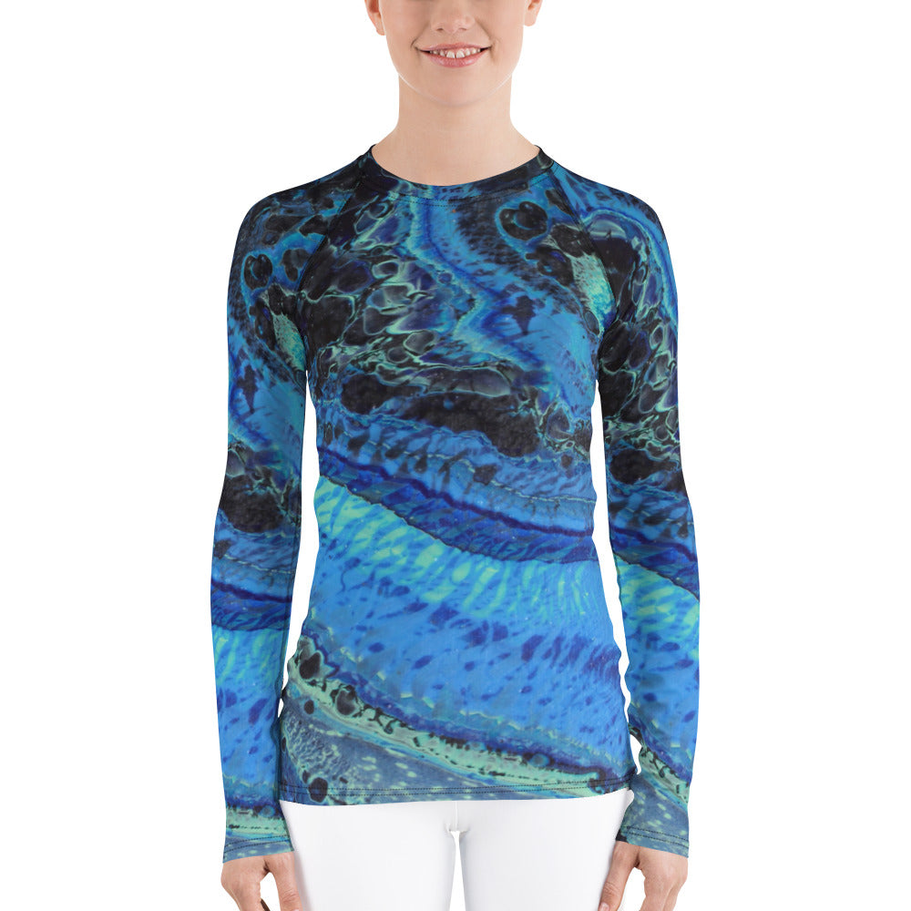 Blue Tracks Rash Guard