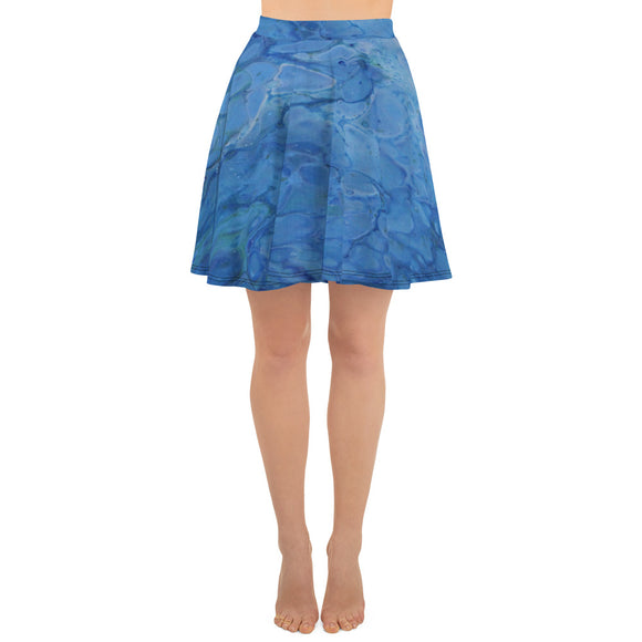 Ocean Views Skater Skirt