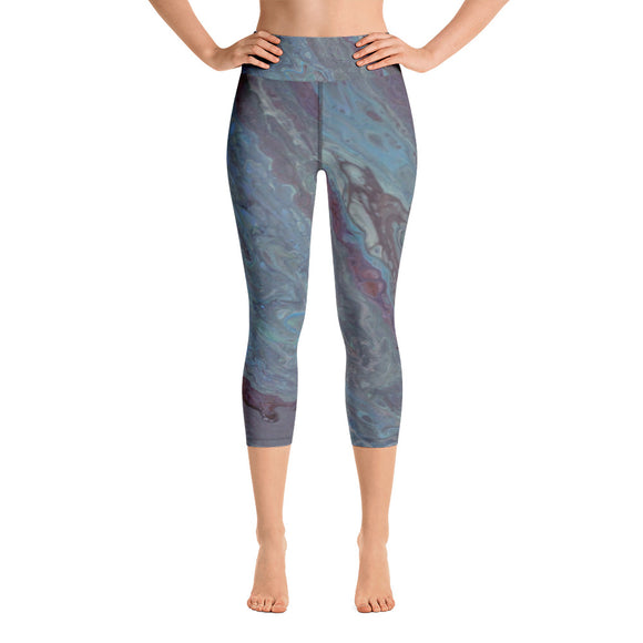 Mute Tones Yoga Capri Leggings