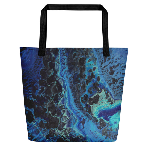 Blue Tracks Beach Bag