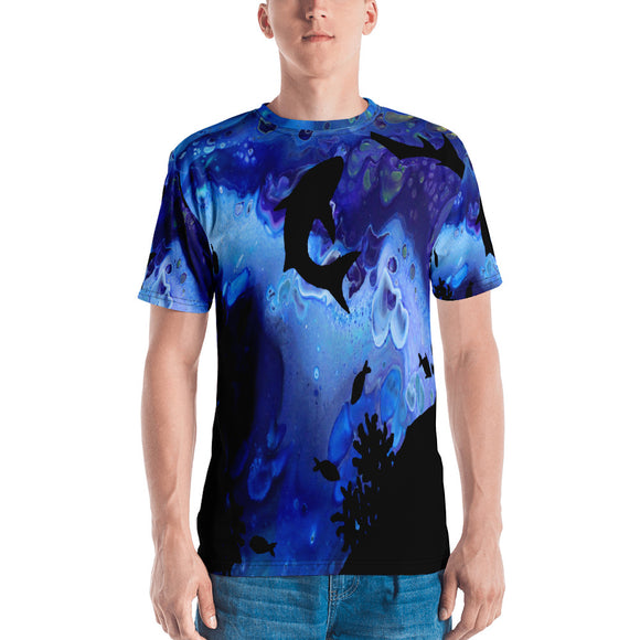 Sharks Swimming Men's T-shirt