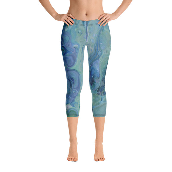 Sea Foam Capri Leggings