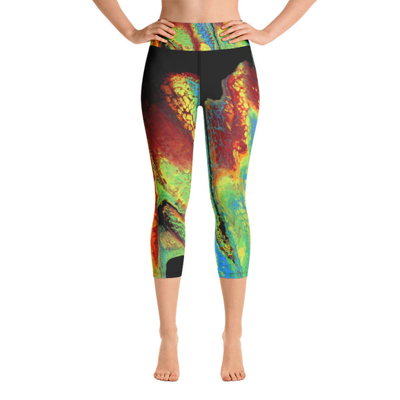 Rainbow Slide Yoga Capri Leggings