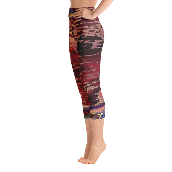 Kiss of Blue Yoga Capri Leggings