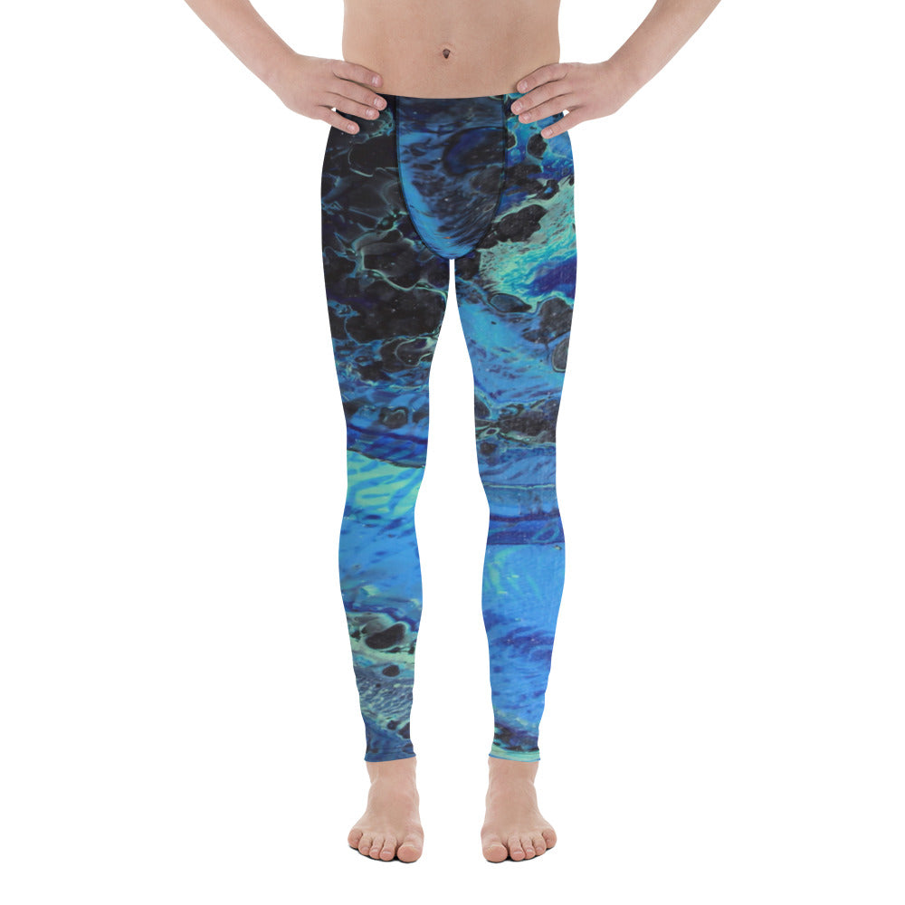 Blue Tracks Men's Leggings
