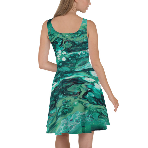 Envious Green Skater Dress