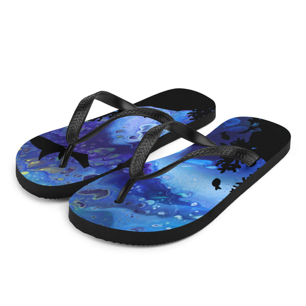 Sharks Swimming Flip-Flops