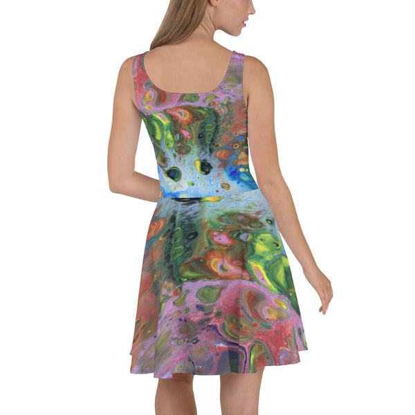 Multi Color Skater Dress