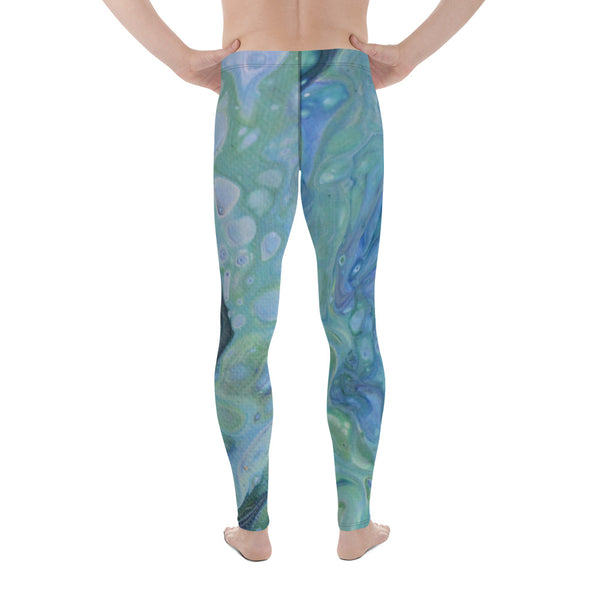 Sea Foam Men's Yoga Leggings