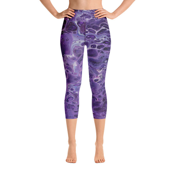 Shy Violet Yoga Capri Leggings