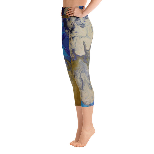 Sandy Beaches Yoga Capri Leggings