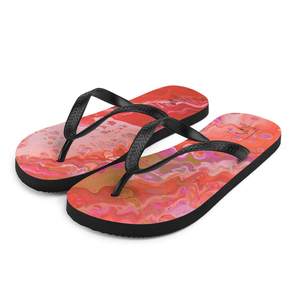 Dreamsicle Flip-Flops