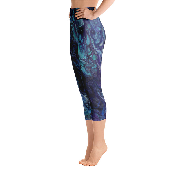 Dripping in Purple Yoga Capri Leggings