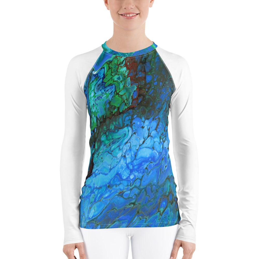 Lava Water White Sleeve Women's Rash Guard