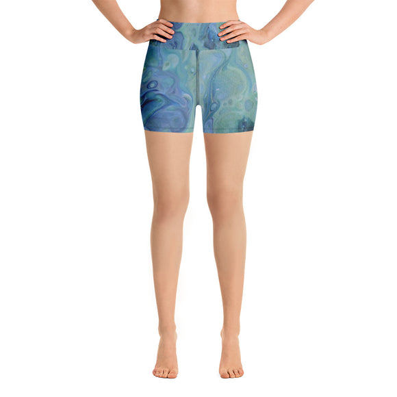 Sea Foam Yoga Shorts