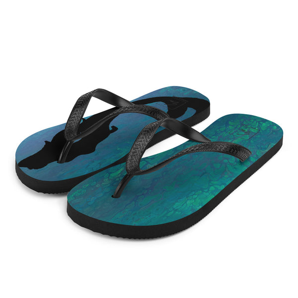Mermaid Fantasy Flip-Flops