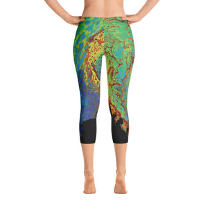 Electric Capri Leggings
