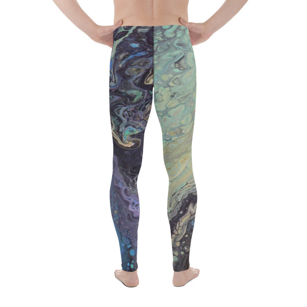 Galactic Swirl Men's Yoga Leggings