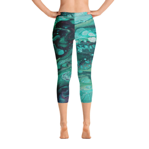Envious Green Capri Leggings