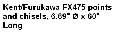 Kent/Furukawa FX475 points and chisels